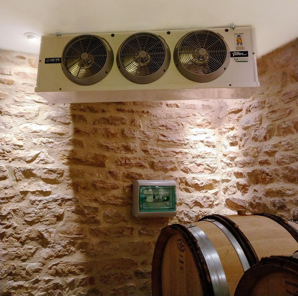 climatisation cuverie température cave à futs